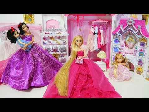 Rapunzel Snow White Princess Bedroom Morning Routine New Jewelry Accessory