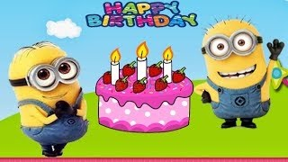 Happy birthday song for kids Mickey Mouse  Wheels on the bus  ACB song minions Donand Duck