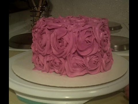 Easy to Make Shabby Chic Rose Cake Decorating Tutorial ...