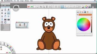 Sketchbook Pro - How To Draw A Cartoon Bear