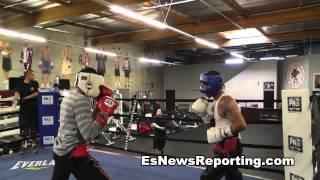 Eric Ruiz Sparring Rudy Ochoa In Oxnard California