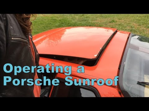 operating a porsche 924 944 sunroof youtube