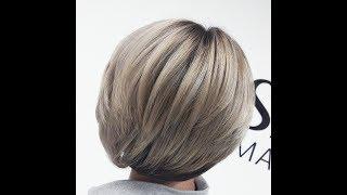 Балаяж на короткие волосы или мелирование через лопатку