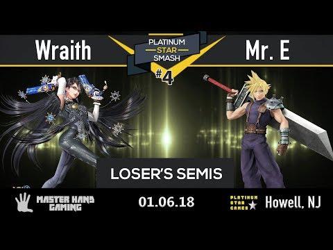 Platinum Star Smash 4 - Wraith (Bayo) vs Mr. E (Lucina, Sheik, Cloud) - Loser's Semifinals