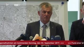 Pressekonferenz zur Bombenentschärfung in Frankfurt
