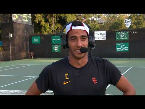 2019 Pac-12 Tennis Championships: USC's Daniel Cukierman breaks down Court 2 win in semifinals:...