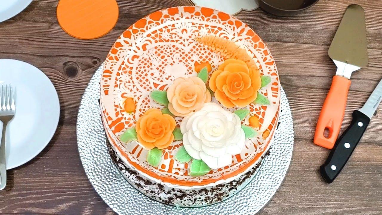 Peaches and Cream Jelly Art Cake - Gelatin Art