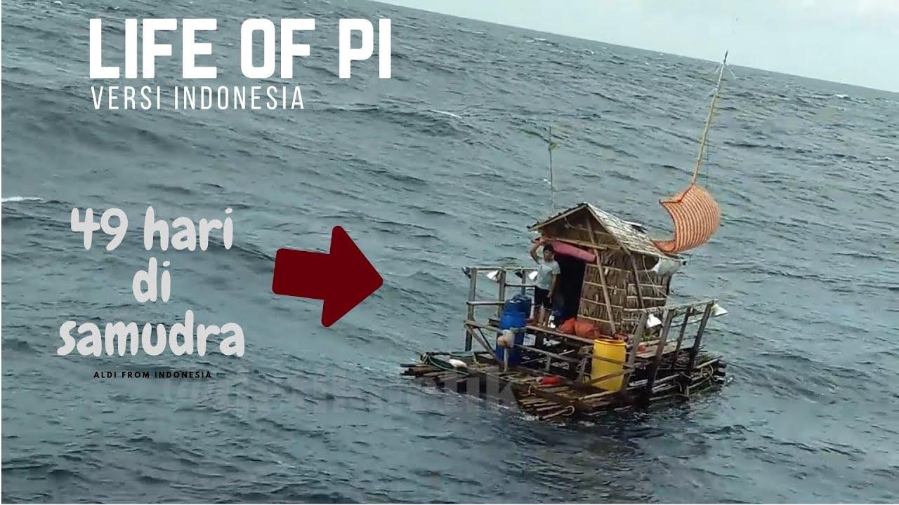 Image result for foto Aldi Si Nelayan saat terapung