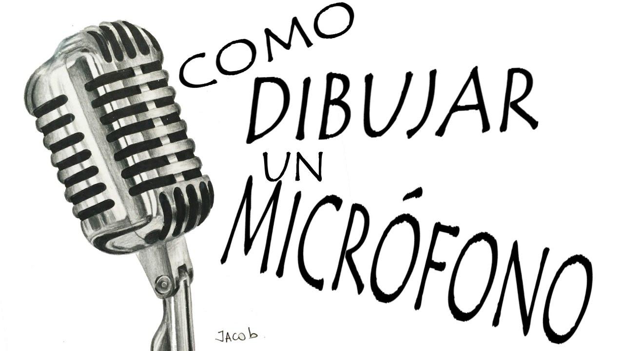 Dibujo Realista Micrófono De Metal