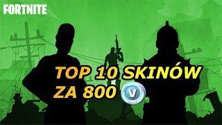 TOP 10 SKINS FOR 800 V-BUCKS! | Fortnite | El Damiano
