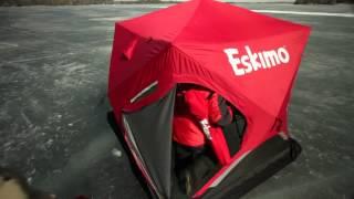 Палатка для зимней рыбалки Eskimo FatFish(Купить данную палатку можно у нас в магазине - http://max-moto.ru/vse-dlya-ohoty-i-rybalki/tovary-dlya-rybalki/palatki-dlya-zimnej-rybalki/, 2014-10-26T15:38:19.000Z)