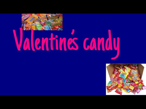 ASMR- making noises with valentine candy!