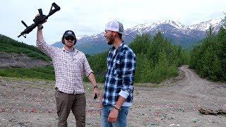 We Shot GUNS IN ALASKA!! Ep 1 Midnight Sun Alaska Vlogs