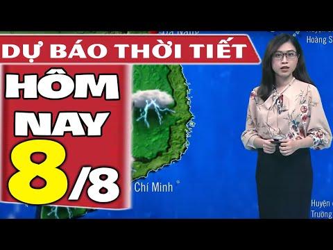 Dự báo thời tiết hôm nay mới nhất ngày 8/8/2021 | Dự báo thời tiết 3 ngày tới