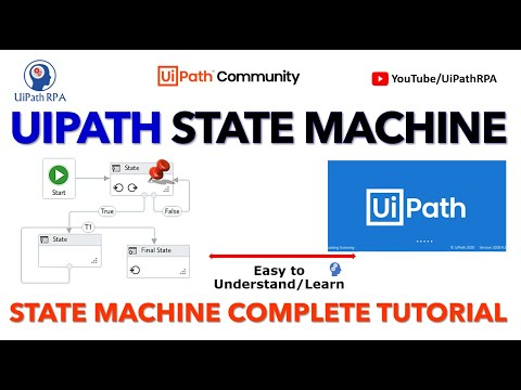 UiPath State Machine and Its use in ReFramework by Cope