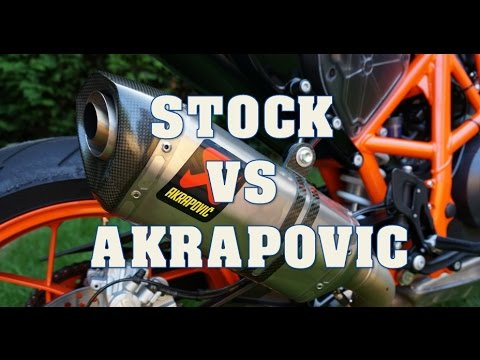 ktm duke 690 stock vs akrapovic exhaust youtube. Black Bedroom Furniture Sets. Home Design Ideas