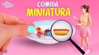 24 HORAS DE COMIDA MINIATURA VS REAL   MIS PASTELITOS