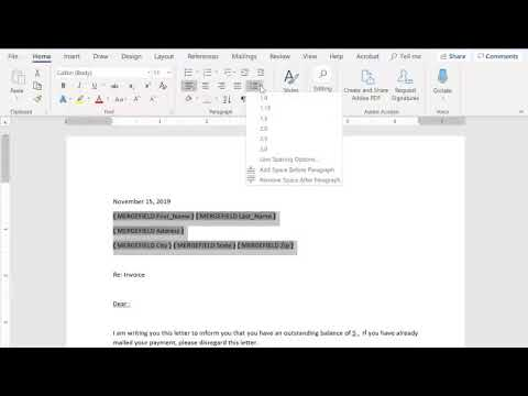 How to Merge data from Excel to a Word document