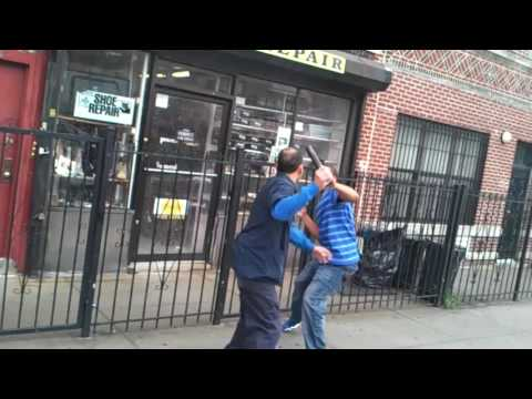 Two Latino Men Fighting In Brooklyn, New York!!!!!