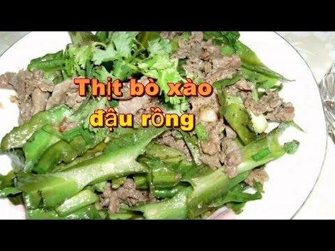 Thịt bò xào đậu rồng