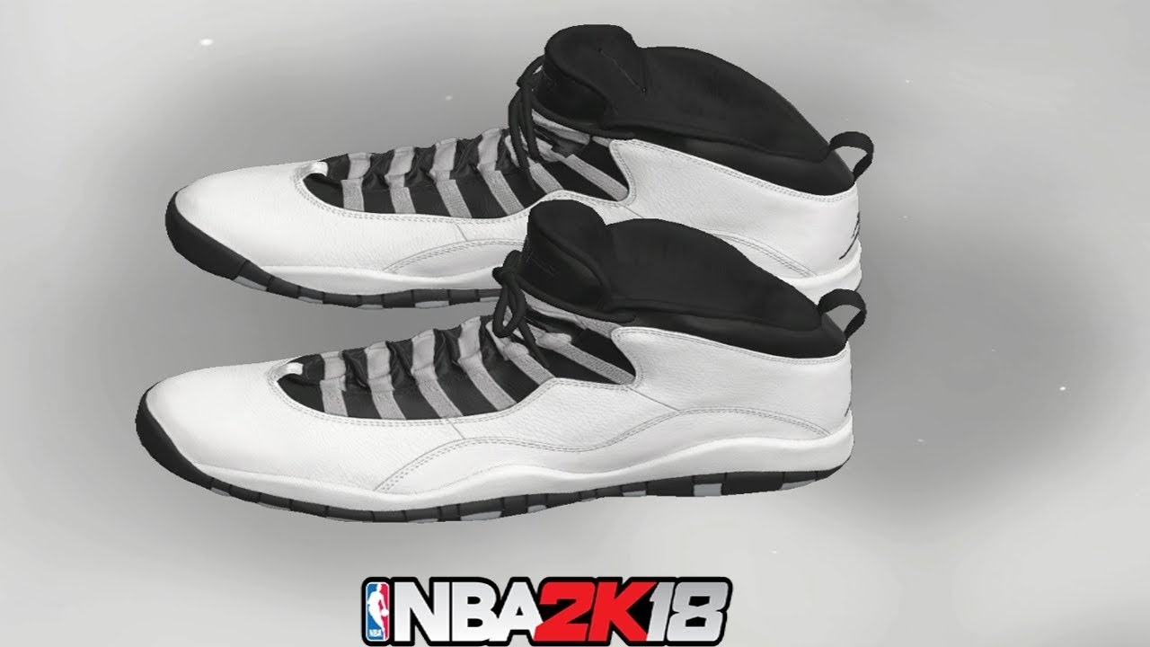 feecbaa8042ed1 NBA 2K18 Shoe Creator ⋆ NBA2K18⋆ Jordan 10 Steel - YouTube