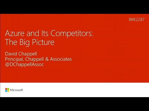 Azure and its competitors: The big picture - BRK2287