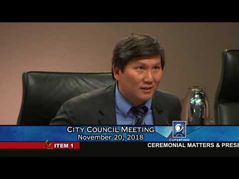 Cupertino City Council Meeting - November 20, 2018