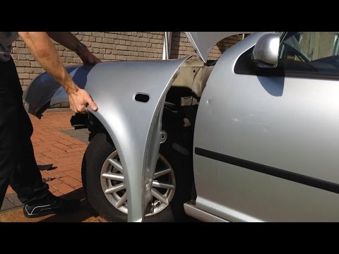 VW Golf MK4 - how to remove/replace front wing video