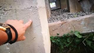 Свайно-ростверковий фундамент під каркасний дім на ділянці з перепадом 3м.