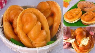 Soft & fluffy Dinner Roll / Bread roll (Eggless & Without Oven) by Tiffin Box | Fried bun, Donuts