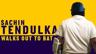 Sachin Tendulkar walks out to bat at Lord