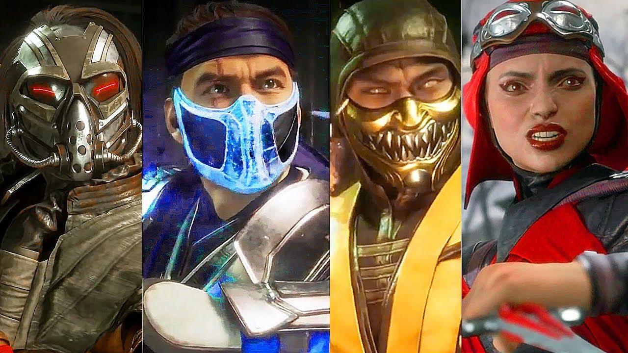 Mortal Kombat 11 - Kabal/Sub-Zero/Scarlet/Scorpion/Baraka/Geras Gameplay (2019)