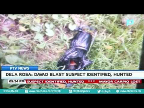 PNP Chief Dela Rosa: Davao blast suspect, identified, hunted