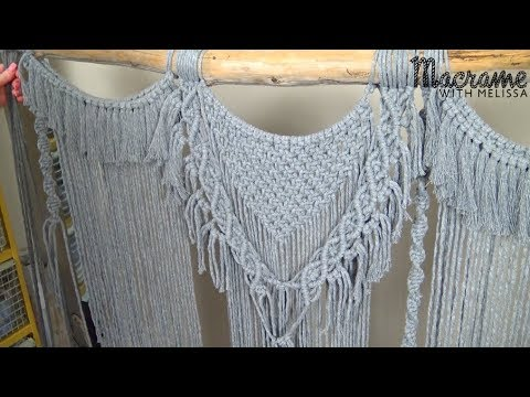 Part 2 Advanced Tutorial DIY Macrame Wall Hanging with