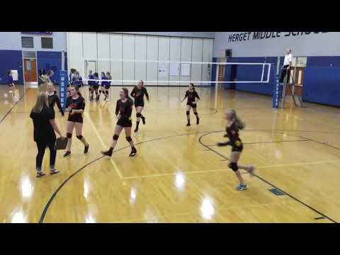 RMS Red A 8th grade vs Herget middle school - second set