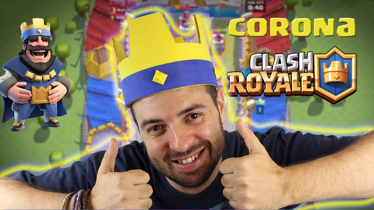 Haz tu CORONA de CLASH ROYALE!! MUY FÁCIL!! - Dcrafting - YouTube