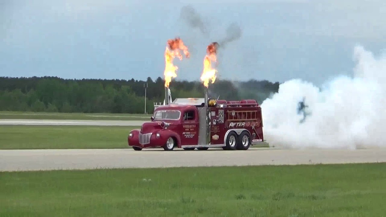 After Shock 24,000 HP 400 mph Jet Engine Fire Truck