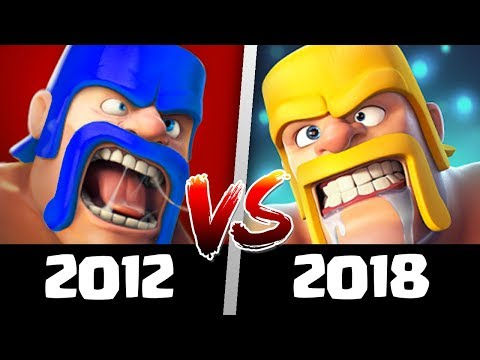 Playing Clash Of Clans In 2012 Vs 2018 (Old CoC Vs New CoC) | What Has Changed?