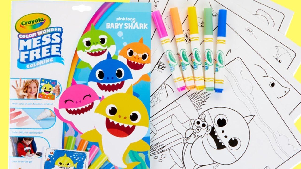 Download Baby Shark Crayola No Mess Coloring Activity