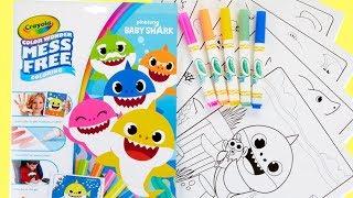 Baby Shark Crayola No Mess Coloring Activity - Popular Kids Pinkfong Song