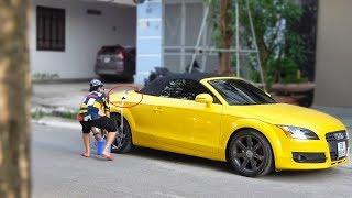 Thanh niên đi xin xăng Siêu Xe Bentley 25 tỷ và cái kết - Taking Super Car Gas Prank