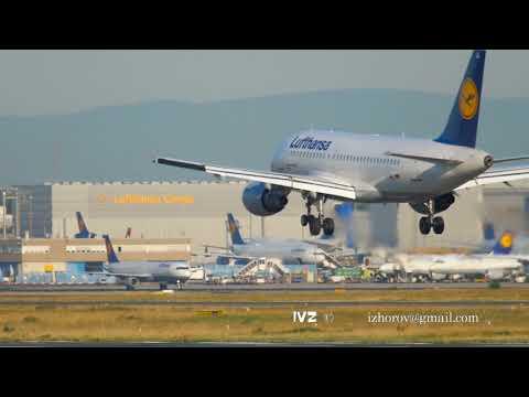 Airplane landing in Frankfurt