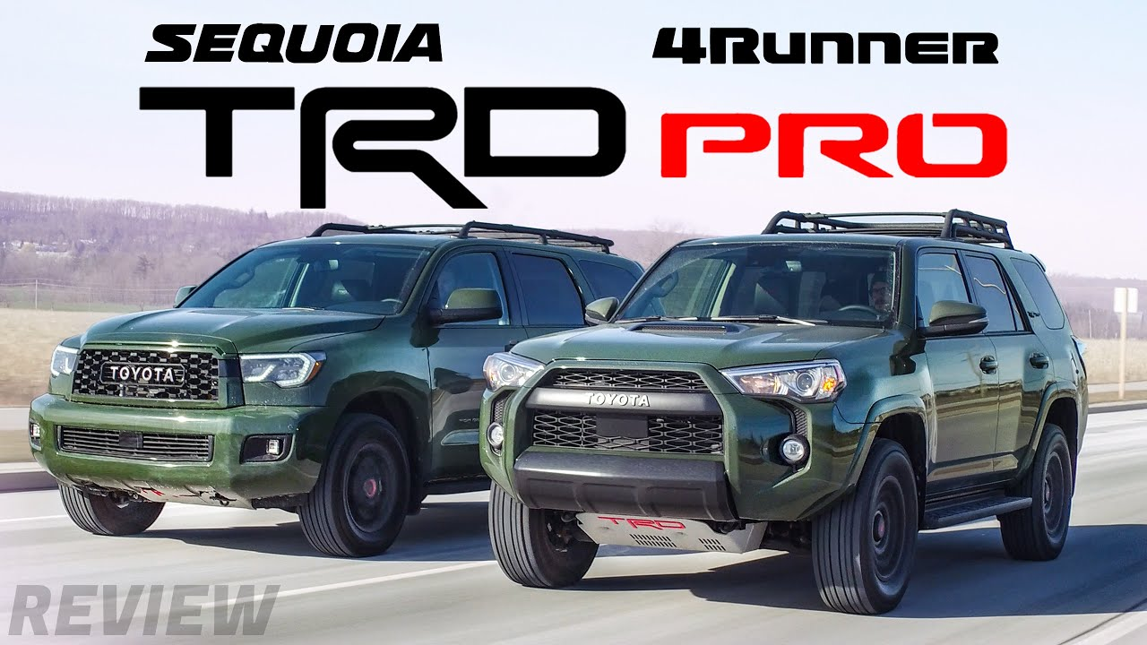Toyota Sequoia Vs 4Runner >> Which TRD Pro is Better? 2020 Toyota Sequoia vs Toyota ...
