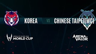 KR vs TPE(WC) | Group Stage Day 1 | AWC 2018