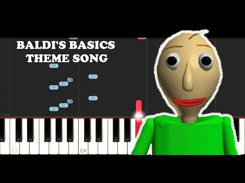 Baldi's Basics School Theme (Piano Tutorial)