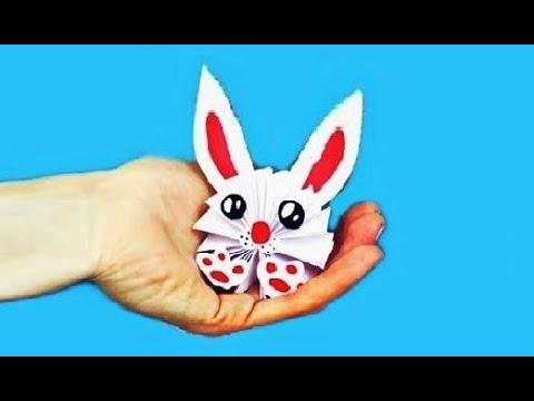 DIY 🐰 - Как сделать КРОЛИКА из бумаги А4 своими руками?