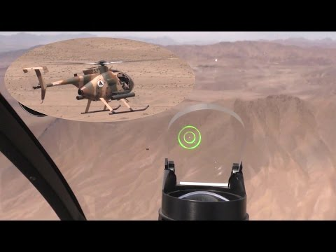 MD-530 Light Scout Attack Helicopter – Live Fire Training In Afghanistan