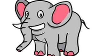belajar menggambar hewan gajah  (learn to draw an elephant)