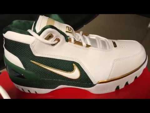 """33bc5bcc7e7c Nike Air zoom generation 1 ( Lebron 1) """"SVSM"""" REVIEW - YouTube"""