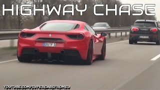 Ferrari 488 GTB High Speed Autobahn Chase!